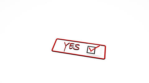 Seal stamp positive negative accepted rejected yes no Animation