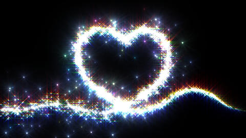 Heart Sparkle E2 Stock Video Footage
