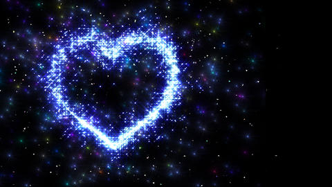 Heart Sparkle I4 Stock Video Footage