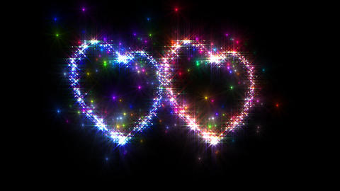 Heart Sparkle 3 D3 Stock Video Footage