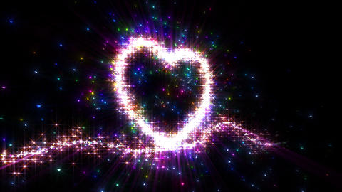 Heart Sparkle 3 F2, Stock Animation