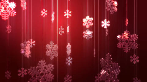 Festive Glass Snowflake Decorations HD Animation