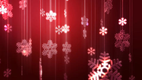 Festive Glass Snowflake Decorations HD Stock Video Footage