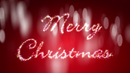 Christmas Footage With Glittering Letters Stock Video Footage
