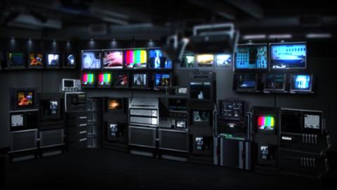 Virtual-studio-7-1 Stock Video Footage