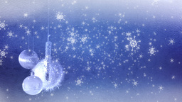 Blue Christmas Background Stock Video Footage