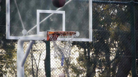 Basket play basketball streetball sport game action 2 Stock Video Footage