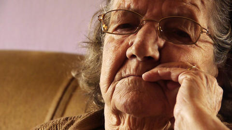 Senior old woman face wrinkle skin close up 2 Stock Video Footage