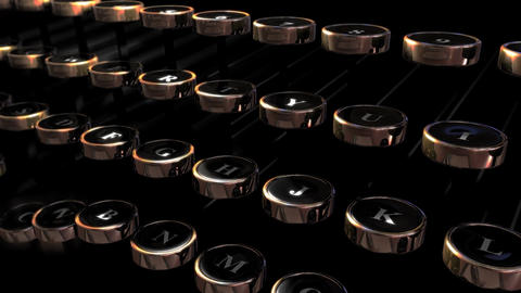 Retro Typewriter Keys Loop HD Animation