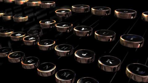 Retro Typewriter Keys Loop HD Stock Video Footage