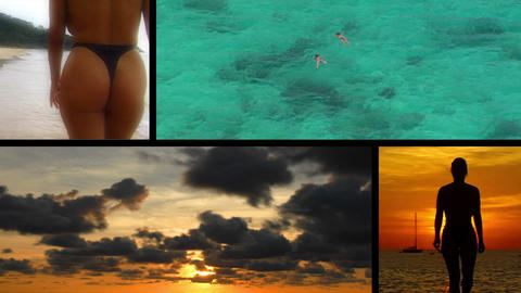 sexy holiday vacation montage Stock Video Footage