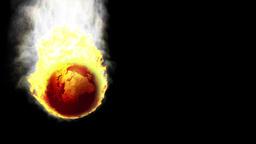 Earth In Fire Falling, Matte Stock Video Footage