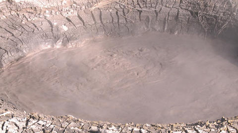boiling mud pool Stock Video Footage