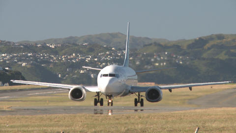Jet taxis to runway Stock Video Footage