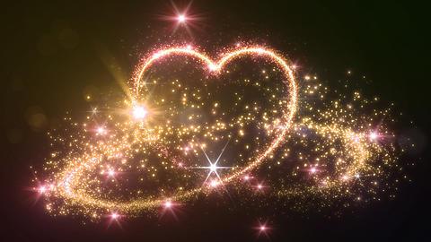 Heart Glitter 2 B2 Stock Video Footage