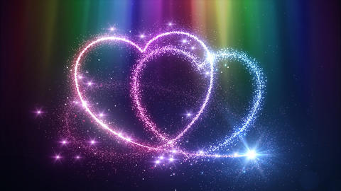 Heart Glitter 2 C2 Stock Video Footage