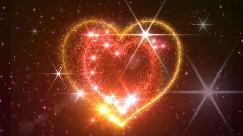 Heart Glitter 2 E2 Stock Video Footage