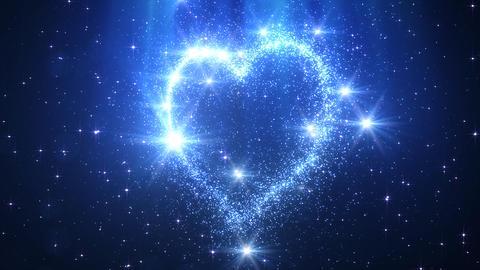 Heart Glitter 2 H1 Stock Video Footage