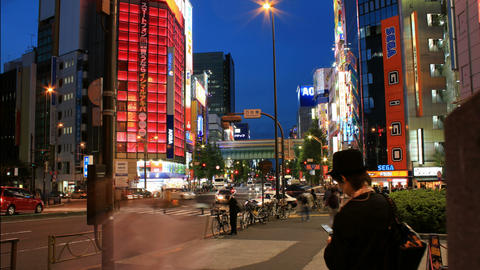 Time Lapse of Akihabara - Tokyo's Electric City Stock Video Footage