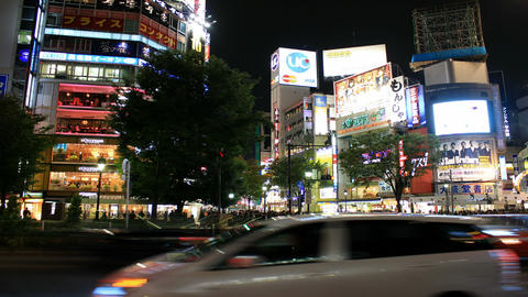 Busy Crossroads in Shibuya - Tokyo, Japan Time Lapse Footage