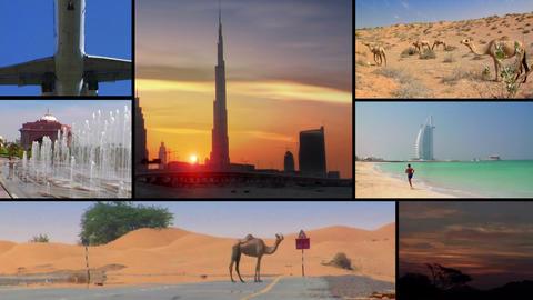 UAE emirates montage Stock Video Footage