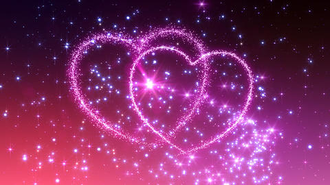 Heart Glitter 2 C3 Stock Video Footage