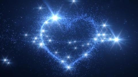 Heart Glitter 2 E4 Stock Video Footage
