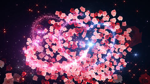 Heart Glitter 2 Rose CF3 Stock Video Footage