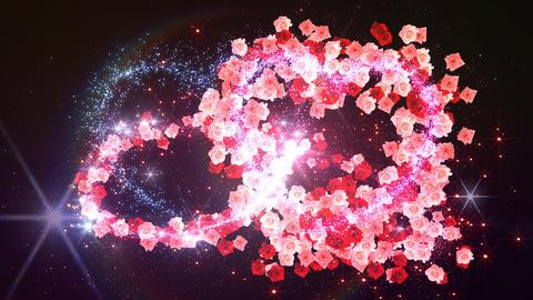 Heart Glitter 2 Rose DF3 Stock Video Footage