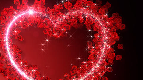 Heart Glitter 2 Rose EF1 Stock Video Footage