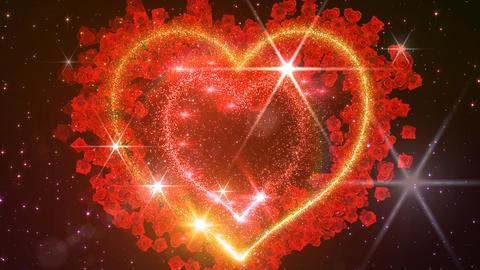 Heart Glitter 2 Rose EF3 Stock Video Footage
