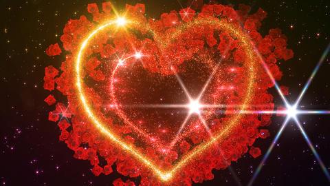 Heart Glitter 2 Rose EF3 Animation