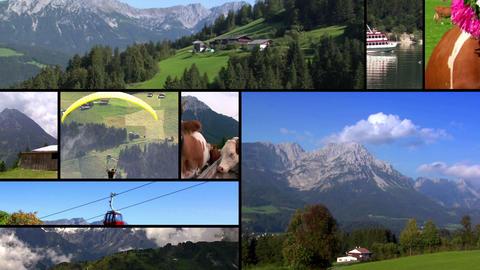 austria alps monatge Footage