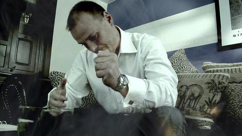 metaphor financial crisis money away drunken Stock Video Footage