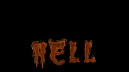 Hell Word In Fire, Alpha Stock Video Footage