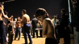 Little Boy Performing Self Flagellation During Ashura Festival In Karachi, Pakistan stock footage