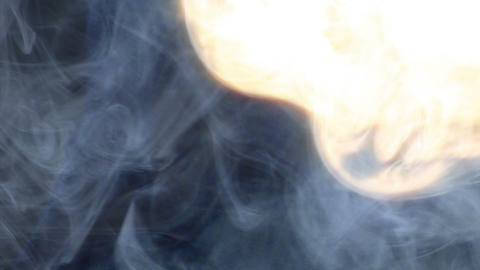 metaphor financial crisis money up in smoke Stock Video Footage