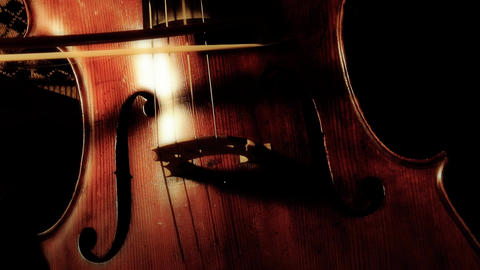 Cello 04 ARTCOLORED Stock Video Footage