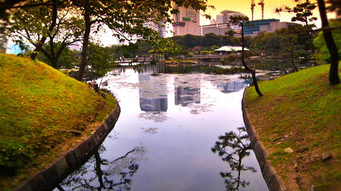 Japanese Garden ARTCOLRED 01 Stock Video Footage