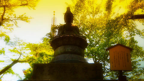 Japanese Religion ARTCOLORED 01 Stock Video Footage
