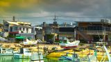 Japanese Port ARTCOLORED 01 stock footage