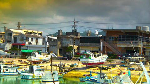 Japanese Port ARTCOLORED 01 Stock Video Footage