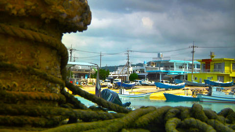 Japanese Port ARTCOLORED 03 Stock Video Footage