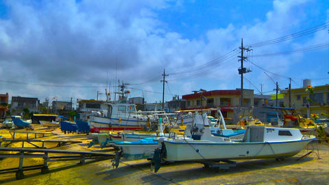 Japanese Port ARTCOLORED 05 Stock Video Footage