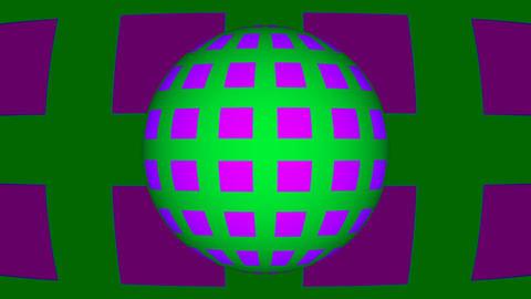 Retro Loop Sphere Stock Video Footage