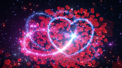 Heart Glitter 2 Rose CF1 Animation