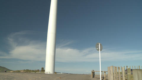 wind turbine and people Stock Video Footage