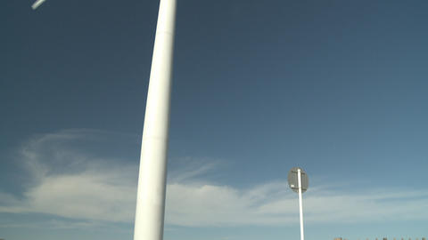 wind turbine and people Footage