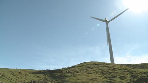 Wind turbine shadows Stock Video Footage