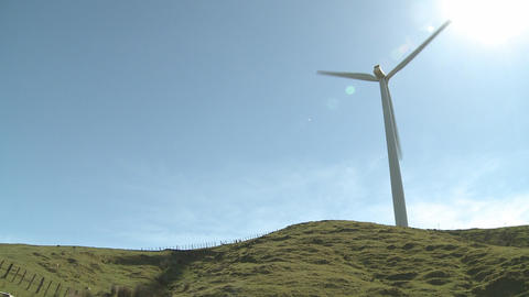 Wind turbine shadows Stock Video Footage